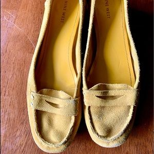 Nine West yellow loafers with small heel